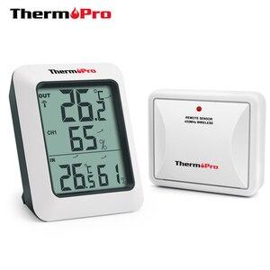Image 1 - Thermopro TP60S 60M Không Dây Nhiệt Ẩm Kế Nhiệt Kế Trong Nhà & Ngoài Trời Trạm Thời Tiết Nhiệt Độ Kỹ Thuật Số Đồng Hồ Đo Độ Ẩm