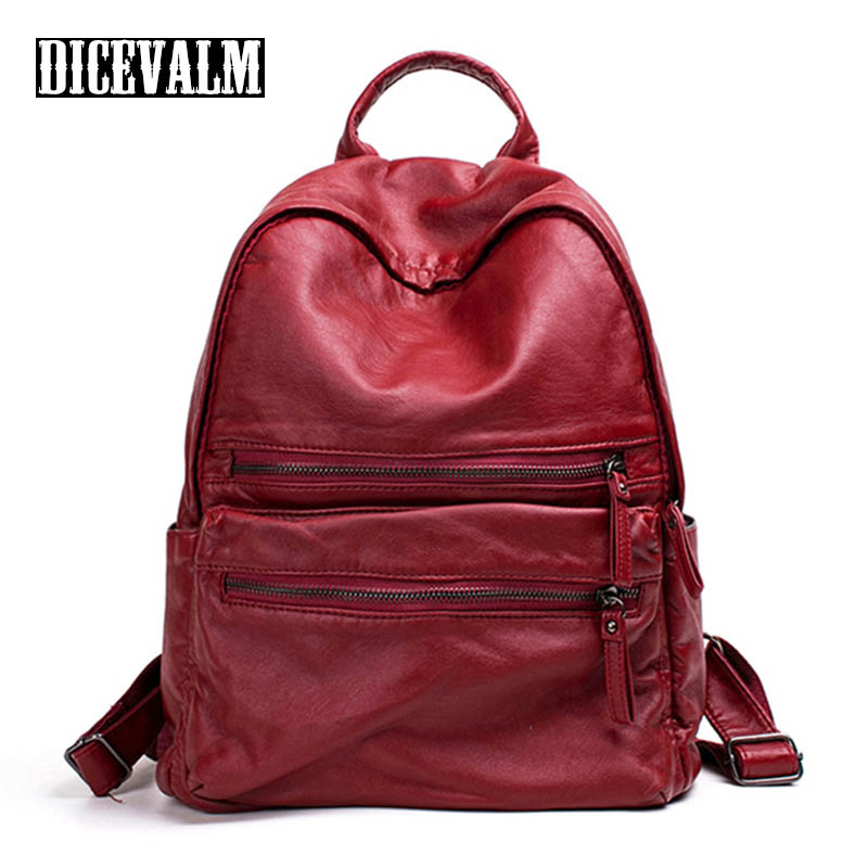 DICEVALM Women'S Backpack Female Leather Bag Black High Quality Small Backpacks Zipper Shoulder Bag School Bags For Teenage Girl 2017 new girl backpack mini high quality girl student casual female bags woman shoulder bag backpacks fashion female bag