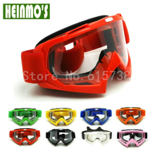 RED Motorcycle Goggles MX Glasses Motocross Bike Cross Country Flexible Goggles Tinted UV Googles