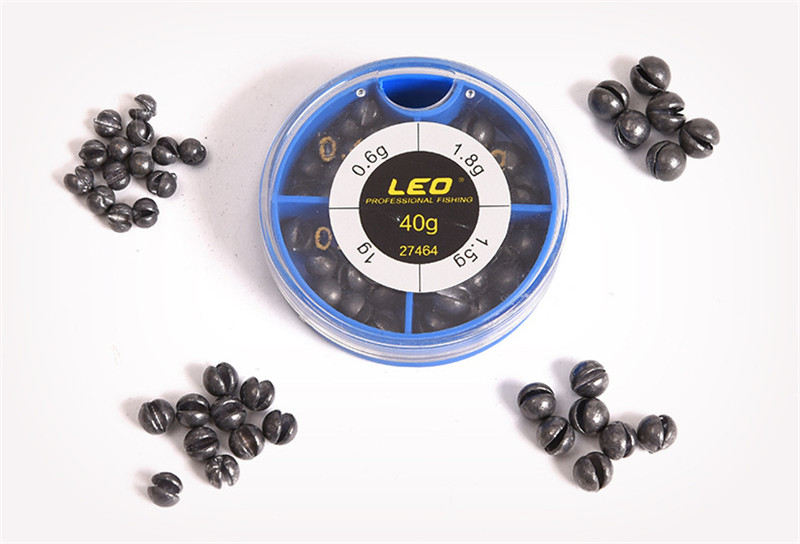 LEO 4 Sizes Mini Round Fishing Lead Weights Set Split Lead Fishing Sinkers Weight Fishing Accessories 0.6g 1g 1.5g 1 (4)