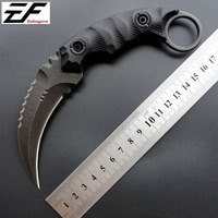 Eafengrow C1691 Fixed Blade Knife Counter Strike CS GO Tactical Claw Neck Knife Self Defense Hunting Survival Knife EDC Tools