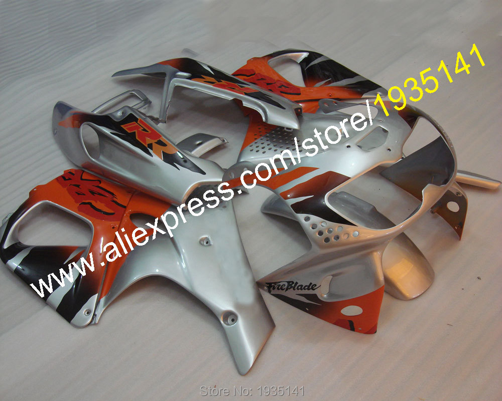 Hot Sales,Orange silver fairing For Honda CBR900RR 1996 1997 CBR 893RR 96~97 CBR 893 CBR900 RR aftermarket sportbike Fairing kit