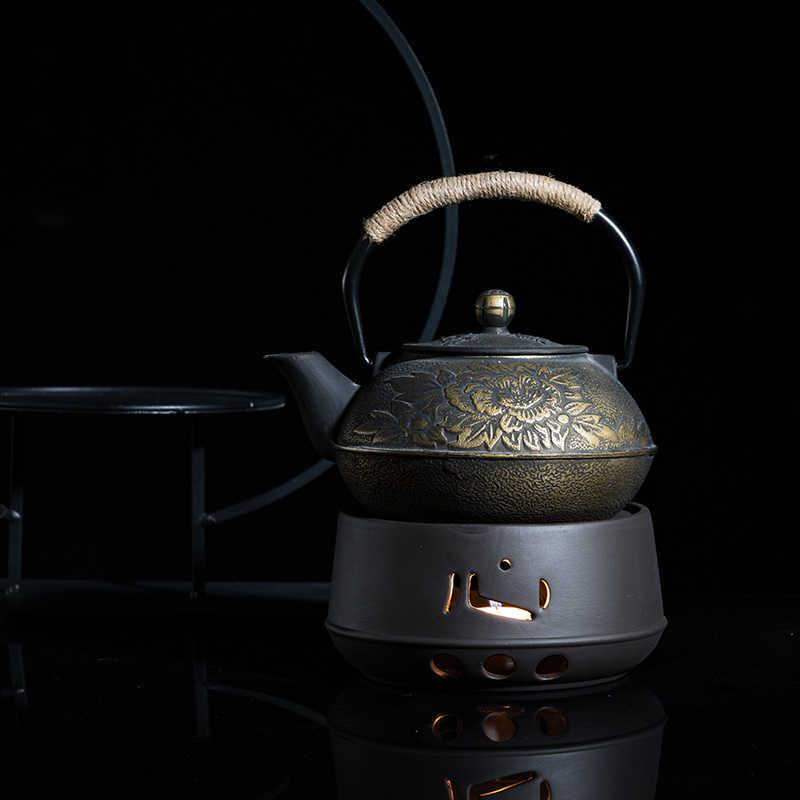 Creativo di Ceramica D'epoca Teiera Stufa Giardino Candela Riscaldamento per Tè e Caffè Latte di Base Ufficio Cuscino Kung Fu Tè Set Accessori Regalo
