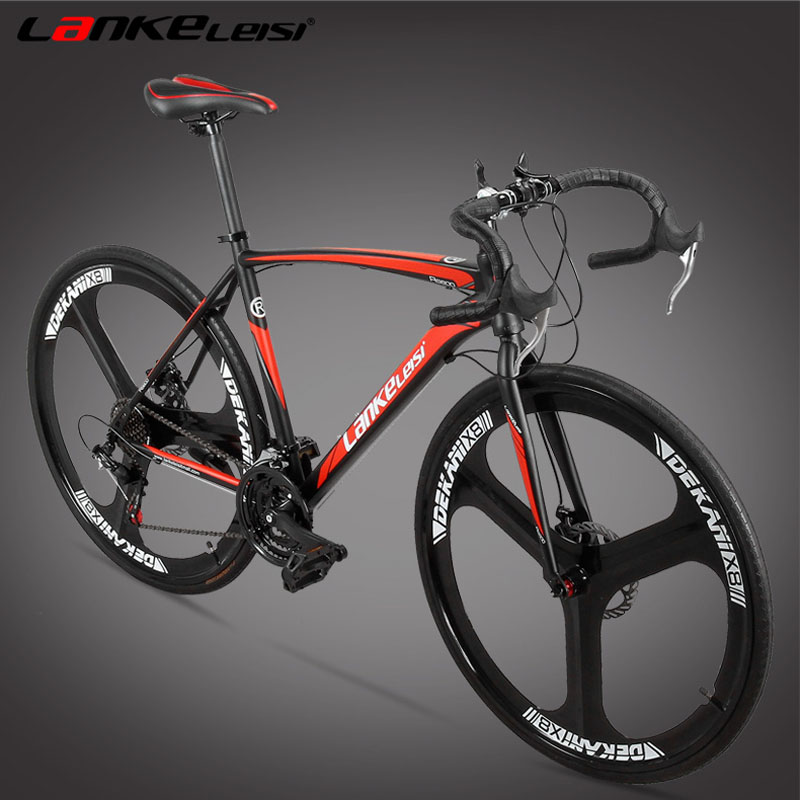 High Quality 21/27 Speed Road Bike, Both Disc Brakes, Integrated Wheel Bicycle, Magnesium Alloy Rim