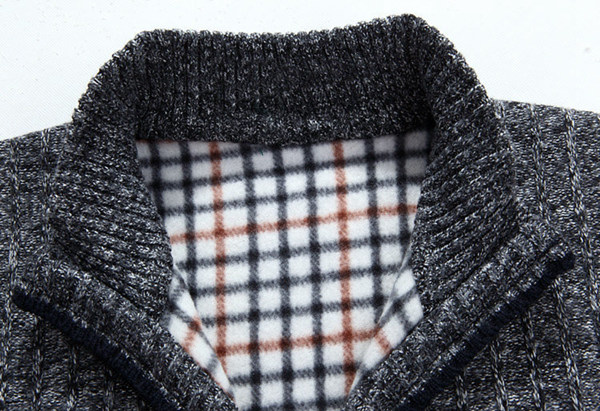 08e0e6b1e5bd1 Mens Casual Loose Knitted Vest Winter Sleeveless Sweater Stand Collar  Zipper Cardigan 6 Color