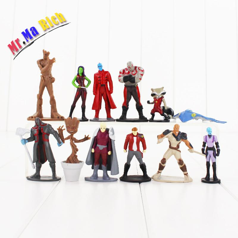 12pcs/set Guardians Galaxy Action Figure Baby Peter Quill Gamora Drax The Destroyer Nebula Yondu Udonta Model Toy