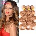 "7A honey blonde brazilian hair extensions 3pcs/lot,27# Rosa hair brazilian body wave 10""-28"" nice brazilian hair weave bundles"