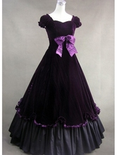 Purple Classic Gothic Victorian Dress/ Civil War reenactments/ historically themed events.