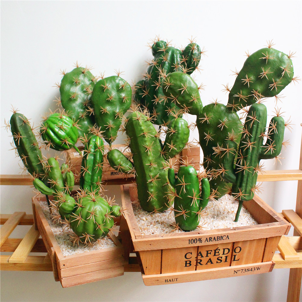 Foreign Trade Excellent Products Artificial Succulent Plant Cactus Green Plant Desktop Creative Diy Fake Plant Table Holiday 29