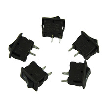 5 x AC 250V 3A 2 Pin ON/OFF I/O SPST Snap in Mini Boat Rocker Switch