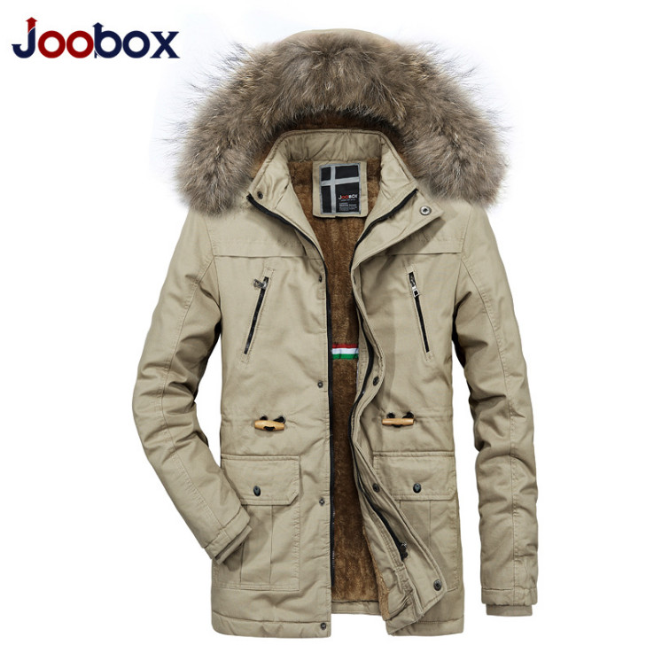 Men's Clothing Russia Winter Thicken Warm Coat 2018 Newest Fashion Fur Collar Medium Long Casual Mens Parkas Windproof Hooded Jackets Men