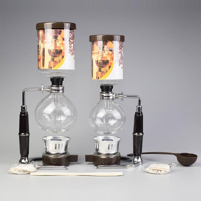 Café Siphon Pot En Verre Siphon Machine À Café Fait de La Chine Siphon Vide Pot Cuisine Filtre Outils 3 tasses 5 tasses Siphon Machine À café