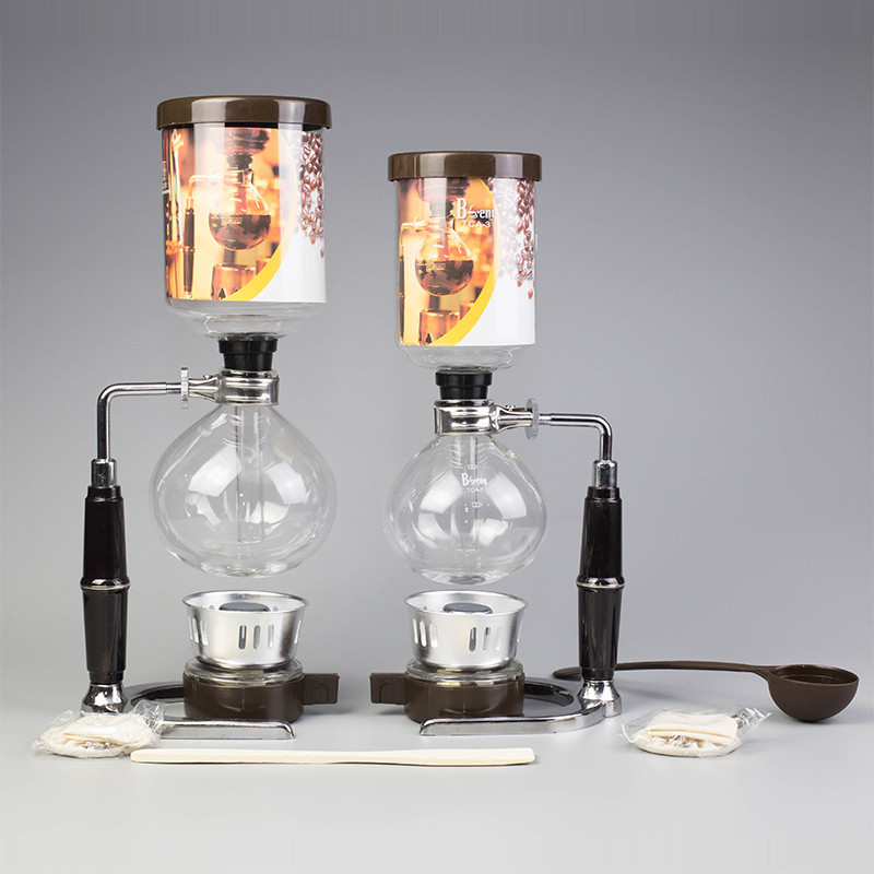Sifón olla sifón cafetera hecha China vacío sifón olla cocina filtro Herramientas 3 tazas 5 tazas sifón máquina de café