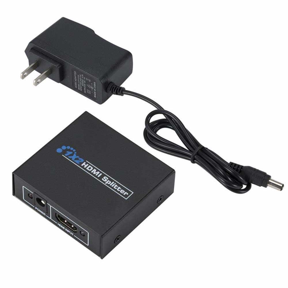 YuBeter rozdzielacz HDMI w rozdzielczości Full HD, dzięki czemu pliki wideo 1080 p przełącznik HDMI 1x2 rozdzielacz HDMI 1.3 Adapter do DVD HDTV projektor DLP LCD konsoli Xbox