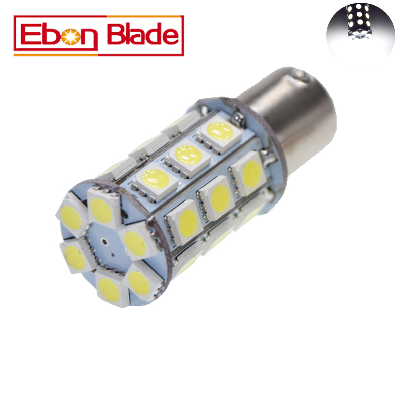1Pcs/lot 1156 BA15S S25 Bulb LED Light 27 SMD 5050 P21W Brake Tail Light Bulb Lamp White 6000K 6V DC AC Free Shipping задние поворотники gfg 10pcs lot 1156 18 smd 5630 ba15s 18smd