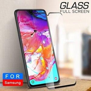 Image 2 - 2 In 1 กระจกนิรภัยสำหรับ Samsung Galaxy A70 70 A705F SM A705FN A70 A80 A90 A60 A50 A40 a30 A20 A10 เลนส์กล้องฟิล์ม