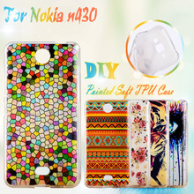Painted Soft TPU Mobile Phone Cases For Microsoft Nokia Lumia 430 N430 Case Cover Shell Soft Silicone GEL Cell Phone Case