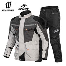 LYSCHY Waterproof Motorcycle Jacket Men Moto Motocross Body Armor Motorbike Riding Breathable Protection Summer