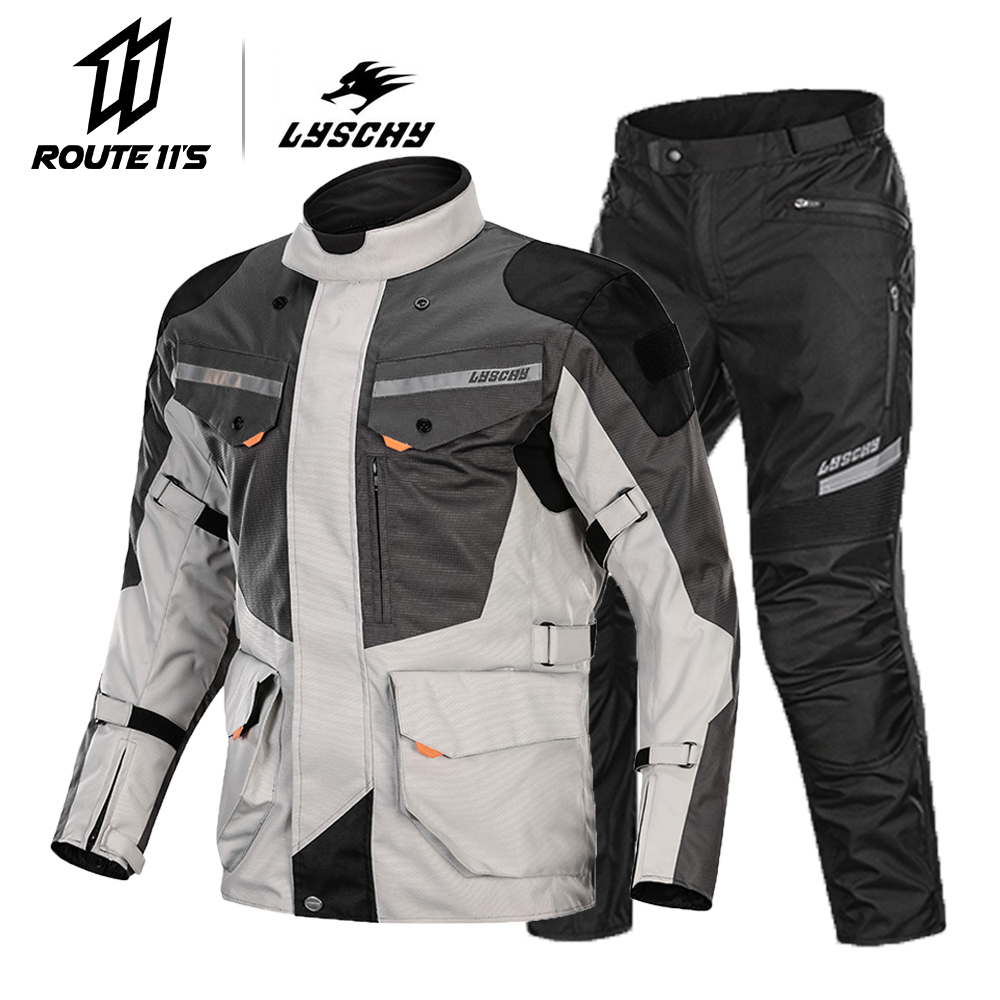 LYSCHY Waterproof Motorcycle Jacket Men Moto Motocross Jacket Body Armor Motorbike Riding Jacket Breathable Protection Summer title=