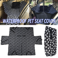 Mayitr Oxford Paw Pattern Car Pet Seat Covers Waterproof Back Bench Seat Travel Accessories Car Seat Covers Mat for Pets
