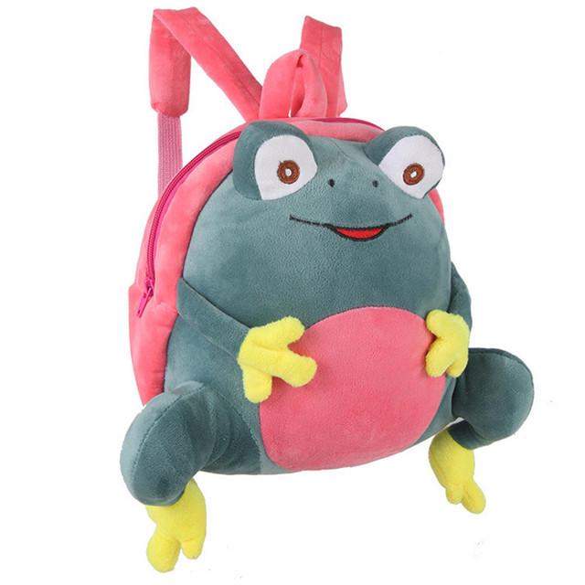 Mini saco de Sapo De Pelúcia Mochila crianças animal Bonito 3D para 1-6 Crianças ano Do Bebê Rosa Verde Vermelho saco de Escola Do Jardim de Infância Da Menina do Menino presente