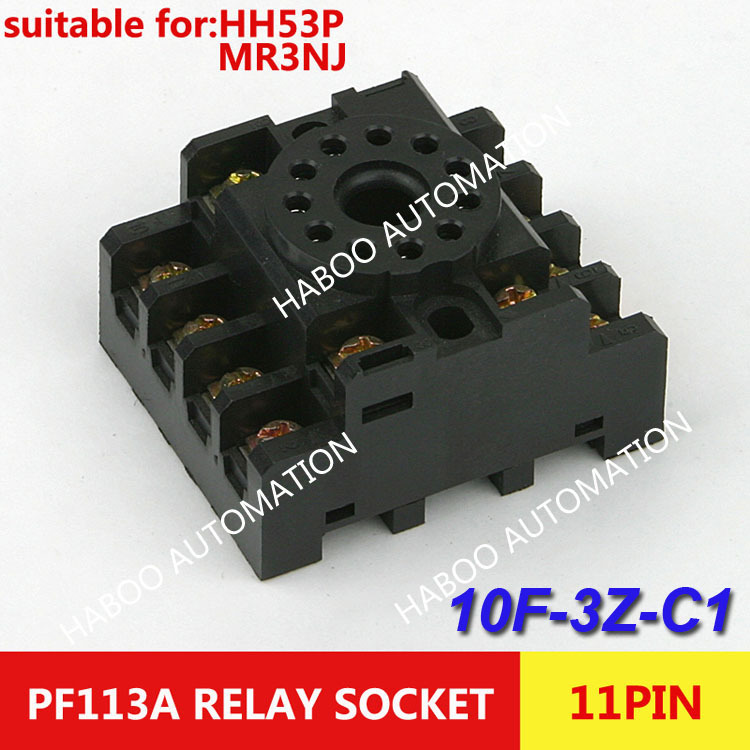 10pcs/lot HABOO Relay socket (PF113A),REED RELAY SOCKET,relay 11 pin socket screw type s ...