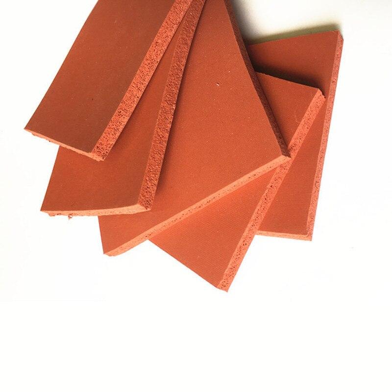 Espuma de silicona esponja tablero de chapa manta aislante de calor tira cuadrada 500x500x25mm rojo - 2