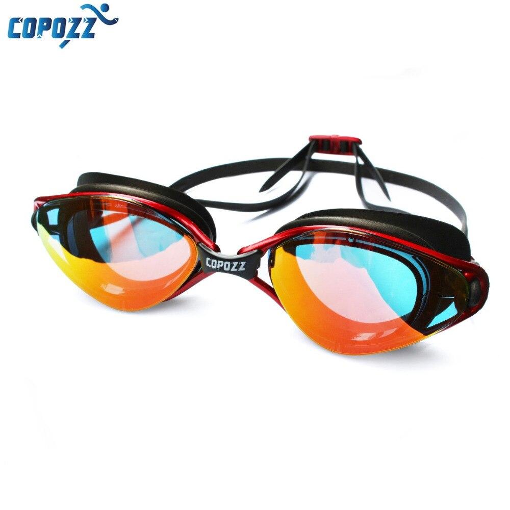 Copozz nuevo profesional Anti-niebla protección UV gafas de natación ajustable hombres mujeres impermeable gafas de silicona adulto gafas