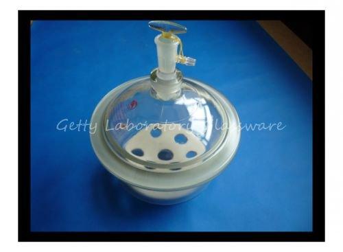 Dessiccateur de laboratoire de pot de dessiccateur de vide en verre de Pyrex, diamètre intérieur 8