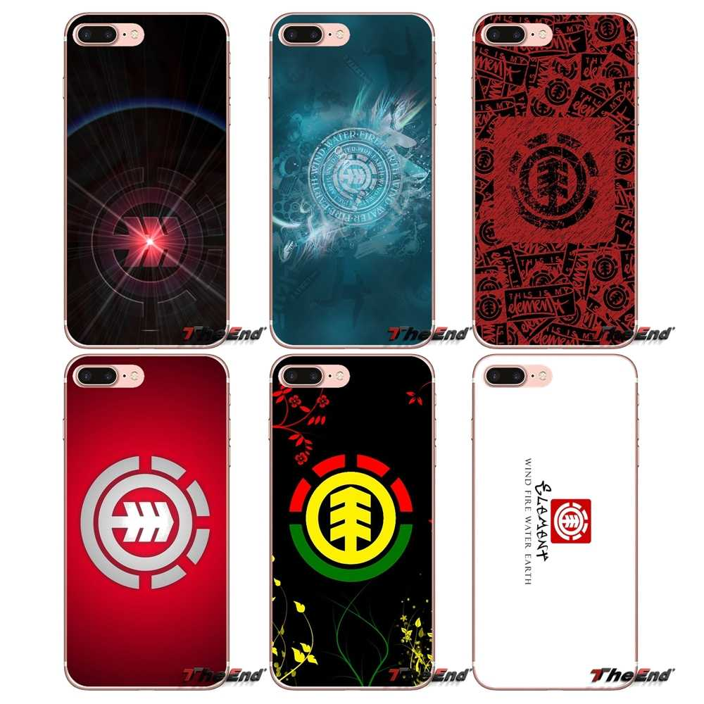 Element skate leven Skateboard Deck Case Voor iPhone X 4 4S 5 5S 5C SE 6 6S 7 8 Plus Samsung Galaxy J1 J3 J5 J7 A3 A5 2016 2017