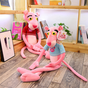 Image 4 - 1PC 55 150CM High Quality Big Size Baby Toys Plaything Cute Naughty Pink Panther Plush Stuffed Doll Toy Home Decor Kids Gift