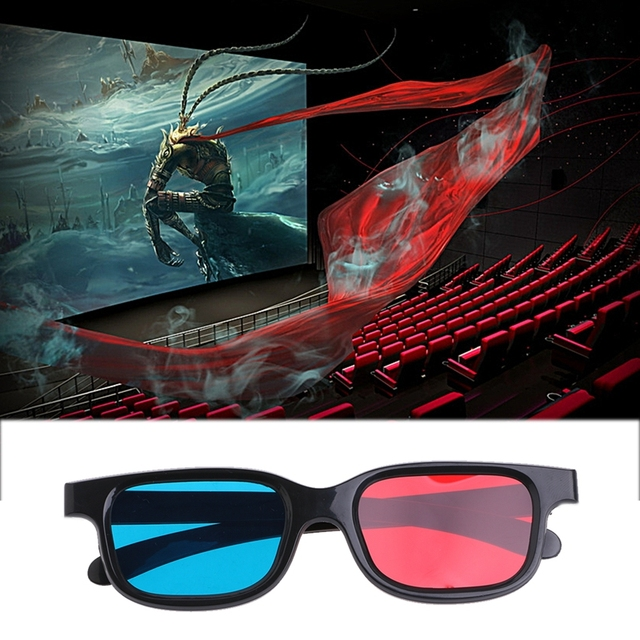 2017 Fashion NEW Type Universal 3D Glasses / Red Blue Cyan