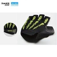 Santic Radfahren Handschuhe Half Finger Mens frauen Sommer Bike Handschuhe Nylon Sport Mountainbike Handschuhe Guantes Ciclismo
