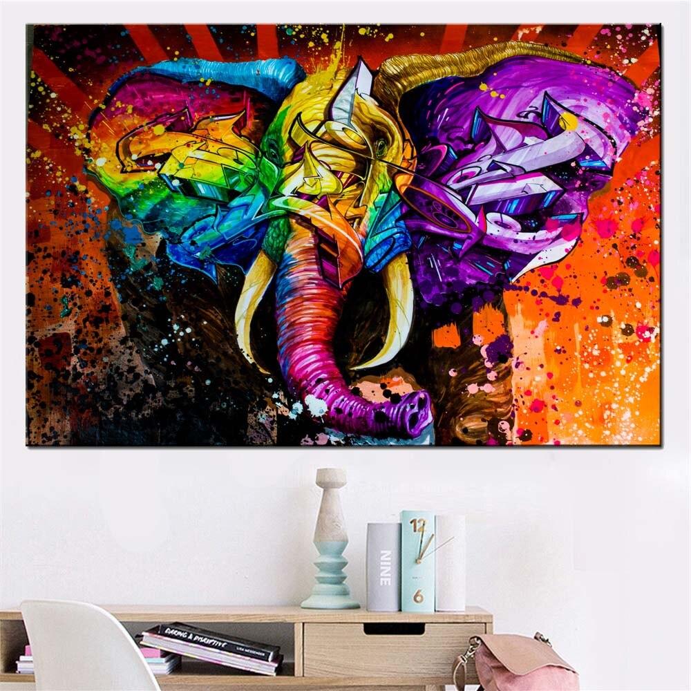 Graffiti Art Modern Abstract Animal Poster Colorful ...