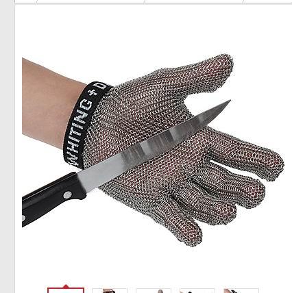 Безопасные устойчивые к порезам защитные рабочие перчатки 100% из нержавеющей стали ANSI анти Резные Металлические Сетки Мясник Перчатки - 2