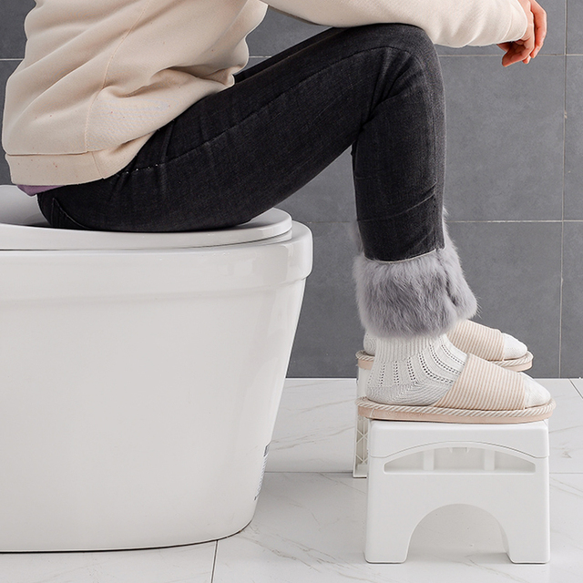 Home Folding Squatting Stool Bathroom Squat Toilet Stool Compact Squatty Potty Stool Portable Step Seat for Home Bathroom Toilet