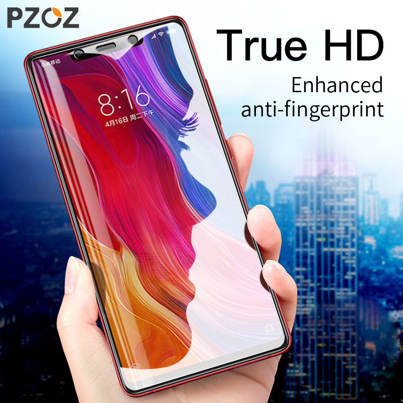 PZOZ Tempered Glass For <font><b>Xiaomi</b></font> Mi 8 <font><b>mi8</b></font> 64gb <font><b>128gb</b></font> Full Cover Film Screen Protector 9H for <font><b>xiaomi</b></font> <font><b>mi8</b></font> Protective Phone Glass image