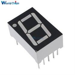 10 pces 1bit 1 bit comum ânodo positivo digital tubo 0.56 0.56 polegada led vermelho dígito 7 segmento
