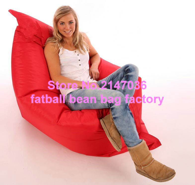X-L Beanbag Chair RED Water Resistant Bean Bags For Indoor And Outdoor Use Make Great Garden Seats