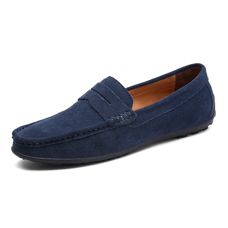 Men Casual Shoes Fashion Male Shoes Suede Leather Men Loafers Leisure Moccasins Slip On Men's Driving Shoes Large Size 6.5-11 #2