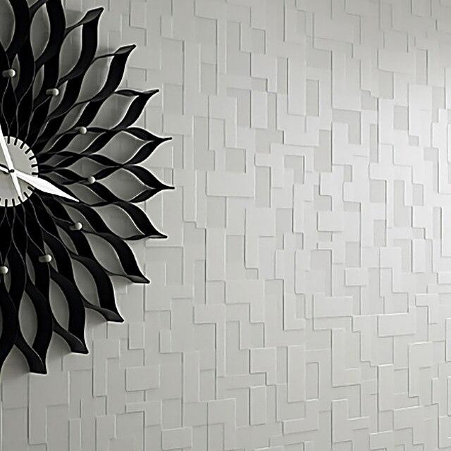 Mosaico de Terciopelo grueso No Tejido En Relieve Papel Pintado ...