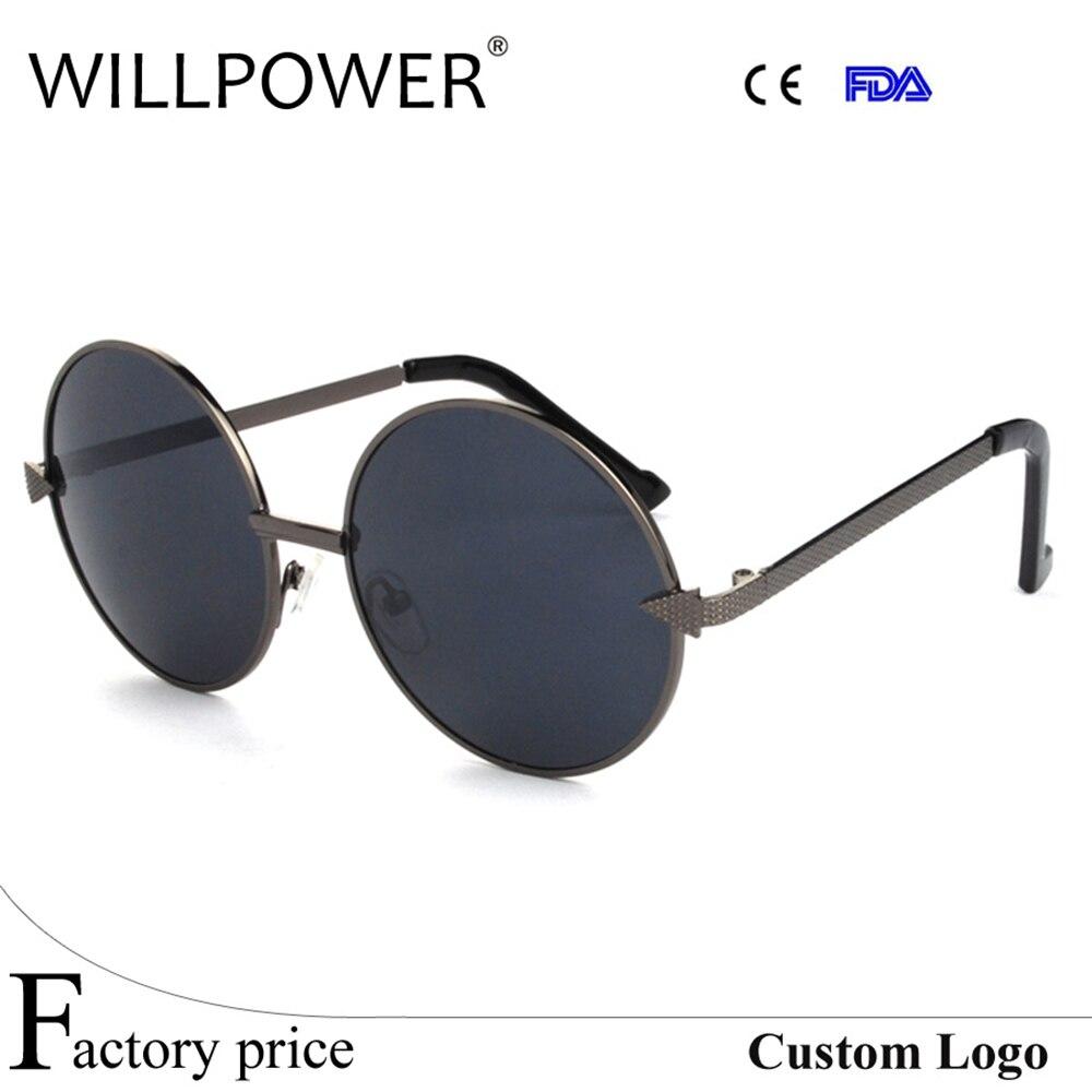 Unisexe vintage lunettes de soleil miroir lunettes de soleil rondes cercle  lentille lunettes 575 avec nez pad 3e75daf99cc0