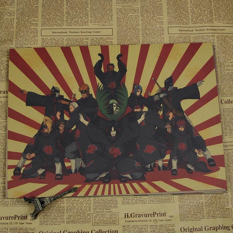 Naruto Poster Bakgrund Anime Dekorativa målningar Naruto / Uchiha - Heminredning - Foto 6