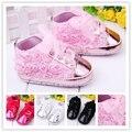 2015 nueva primavera niñas rosa rosa zapatos de encaje de flores bebe primer caminante suave resbalón bebés zapatos para caminar por mayor y al por menor