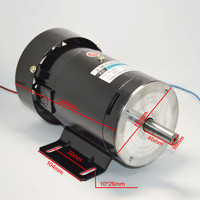 220V permanent magnet DC motor 1800 4500 rpm high speed motor 500W high power large torque motor