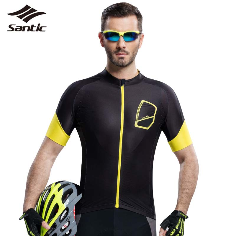 Santic Tour De France Cycling Jersey Pro MTB Road Bicycle Jersey Men Anti-sweat Bike Clothing Cycling Shirt Maillot Ciclismo santic men short sleeve cycling jersey breathable summer cycling clothing mtb road downhill bicycle bike jersey anti sweat