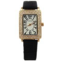 2015 New KEZZI Brand Movement Women Watch 18K Gold Plated Luxury Rectangle Clock Diamond Imitation Genuine