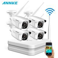 ANNKE 8CH 1080P FHD Беспроводная NVR видео система безопасности с 4 шт 2 МП пуля наружная Всепогодная IP wifi камера комплект домашнего видеонаблюдения