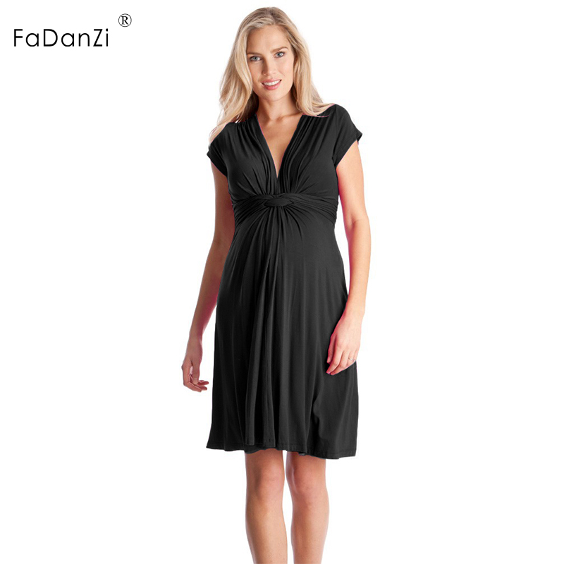 summer maternity dress V-neck excellent sexy pregnant women short skirt pregnancy clothing pregnant women skirt pregnant clothes 2017 deep v neck women dress sexy plus size red blue summer clothes for pregnant women short sleeve evening dresses m 6xl sale