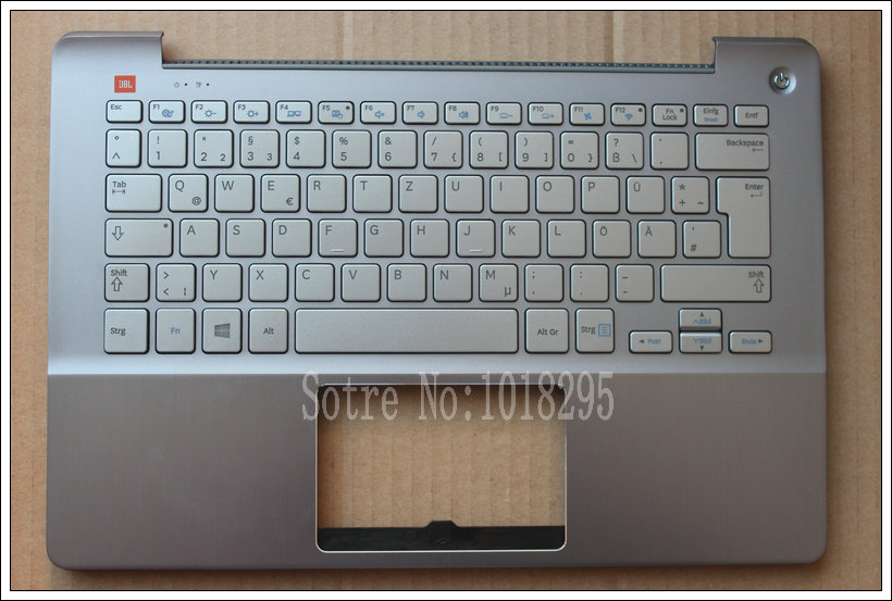 NEW German GR  laptop keyboard for SAMSUNG NP730u3e NP740U3E  silver With  shell new gr laptop keyboard with frame for samsung 355v5c 350v5c 355 v5x german keyboard